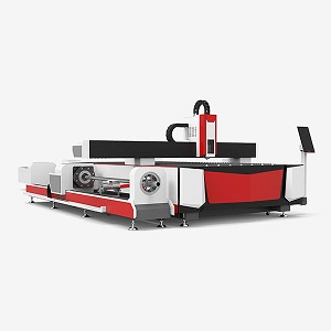 Exchange platform metal sheet and tube fiber laser cutter