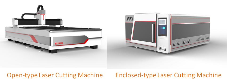 máquina de corte a laser do tipo aberto e máquina de corte a laser do tipo fechado