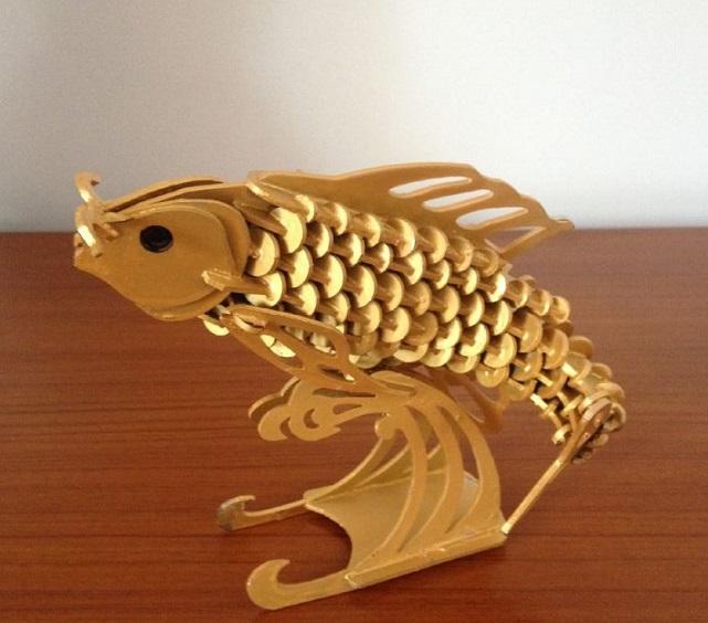 laser cut template of golden carp2